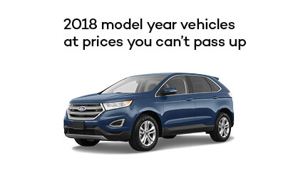 2018 model year vehicles at prices you can't pass up.