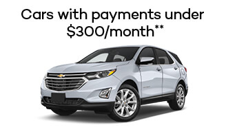 Cars with payments under $300/month**